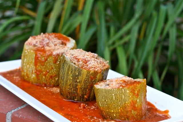Stuffed Zucchini in Tomato Sauce