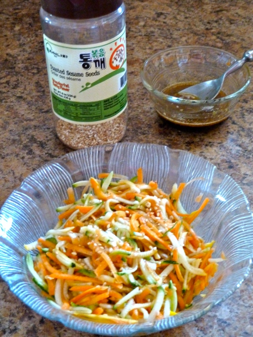 Zucchini & Carrot Slaw with Asian Dressing