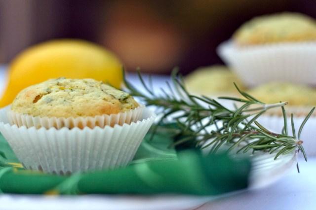 Lemon Rosemary Zucchini Muffins